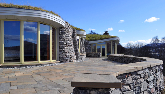 Curved Stone House - Gallery