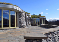 Curved Stone House